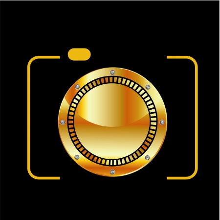 Golden digital camera  Vector