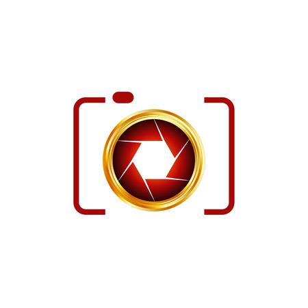 Digitale Camera-fotografie logo Stock Illustratie