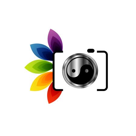 デジタル カメラ写真ロゴ  イラスト・ベクター素材