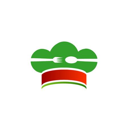 bandera de italia: Sombrero del cocinero con los colores de la bandera italiana Vectores