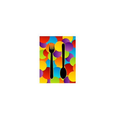 restaurateur: Food logo- for restaurant  Illustration