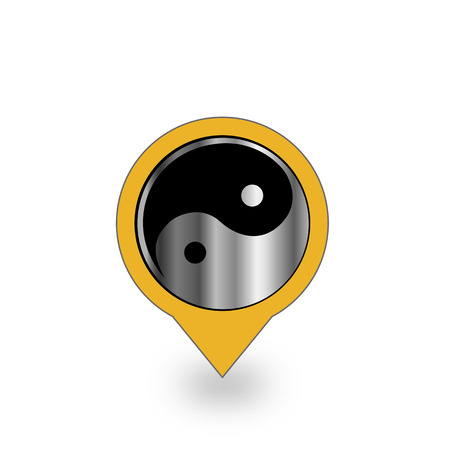daoism: Placement with ying and yang symbol