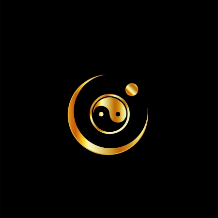 Harmony concept with yin and yang symbol Vector