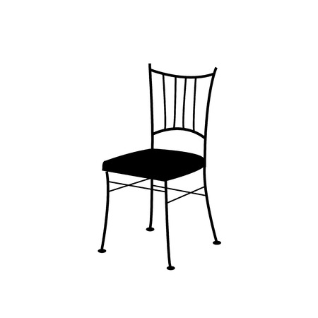 Digitally drawn dining chair Illustration