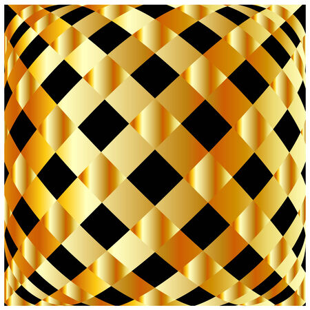 argentum: Gold chequered background Illustration