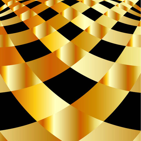 Gold fractal background Stock Vector - 26328387