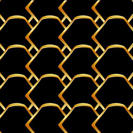 Golden honey cell background Ilustração