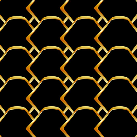 Golden honey cell background Stock Illustratie