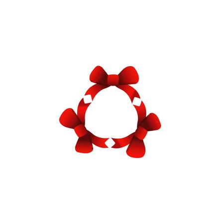 hiv awareness: Red ribbons in circle