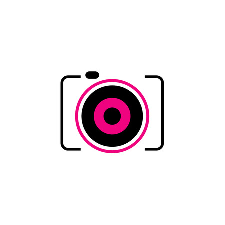 デジタル カメラのシンボル  イラスト・ベクター素材