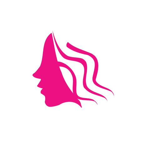 Female hair symbol Stock Vector - 26328520