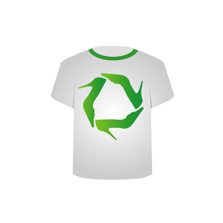 T Shirt Template with Shoe recycle symbol