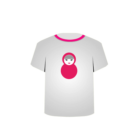 T Shirt Template with Matryoshka doll