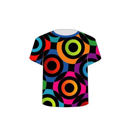 T-Shirt-Vorlage mit fraktalen Ringe Standard-Bild - 26328647