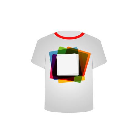 T-Shirt-Vorlage mit bunten Blöcken Standard-Bild - 26328663