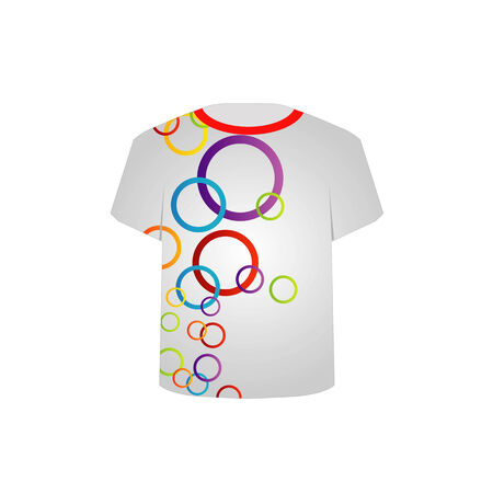 T Shirt Template with fractal rings