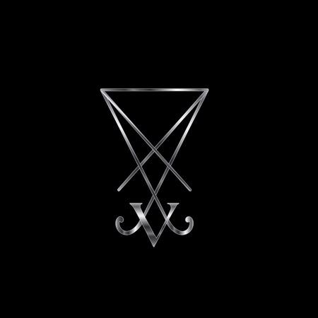 Sigil Of Lucifer Silver Illustration