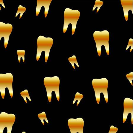 치과 의사 치아 벽지 일러스트