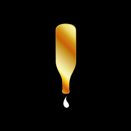inverted: Inverted Golden Bottle Illustration