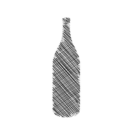 Sketched bottle