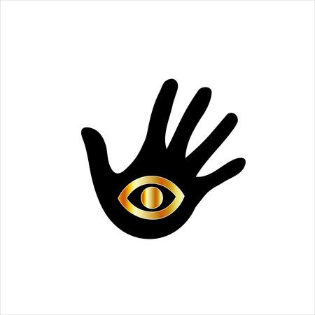 psychic: psychic or mind reader Illustration