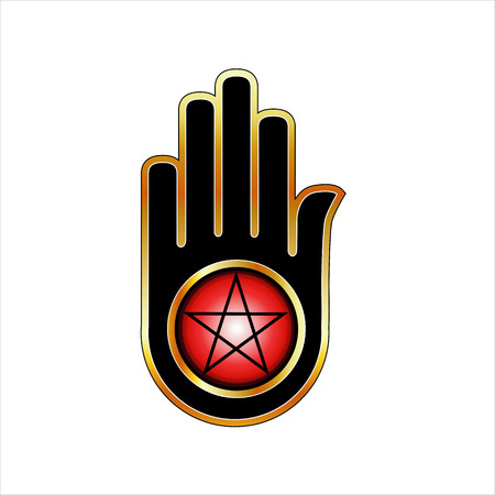 Hand with a Pentacle Illustration