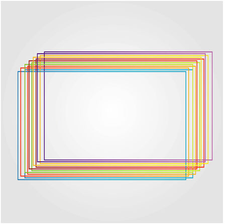 rectangluar: rectangluar design element made from colorful lines Illustration