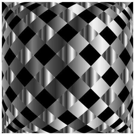 argentum: metallic grid background