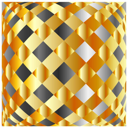 argentum: Gold and silver background
