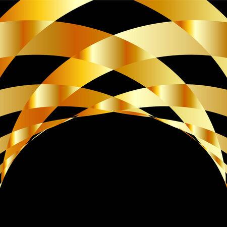 Goud geruite achtergrond Stock Illustratie