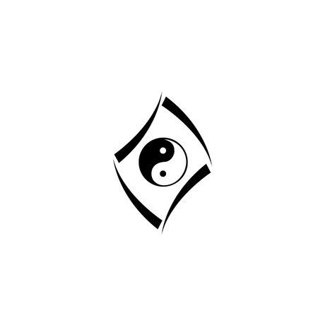 concept with yin and yang Vector