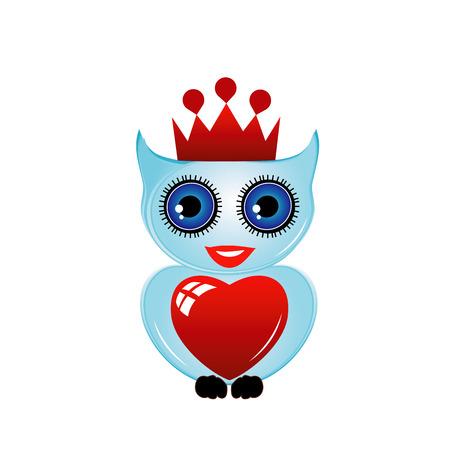 prey: owl- bird of prey Illustration
