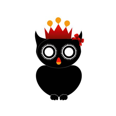 Haloween owl with red crown