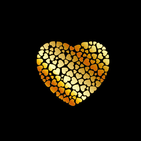 coeur: gold heart fillings