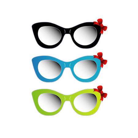 ojo de gato: Coloridas gafas de sol del ojo de gato