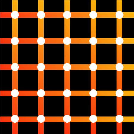 カラフルな目の錯覚  イラスト・ベクター素材