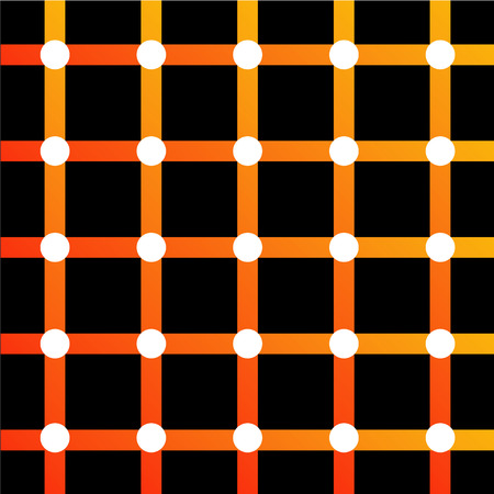 Illusion d'optique colorée Vecteurs