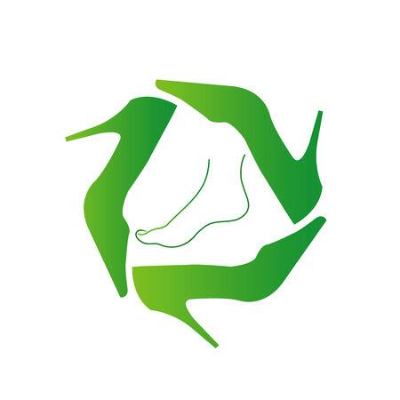 pump shoe: Recycle ladies shoes
