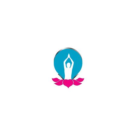 siluetas: yoga  Illustration