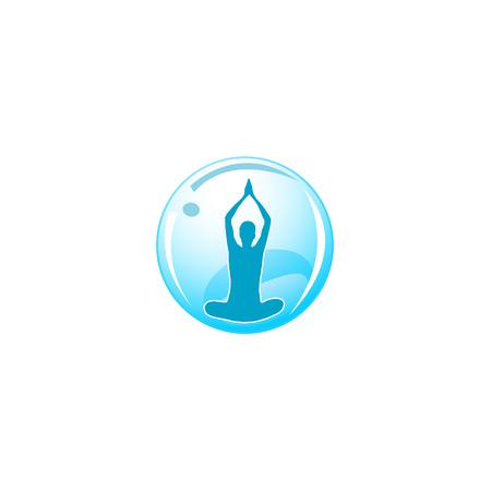 icon yoga or fitness center Vector