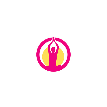 fitness center: icon for yoga or fitness center