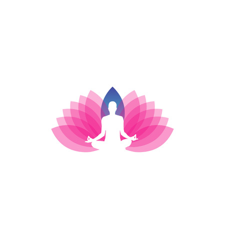 icon for yoga or fitness center Vector