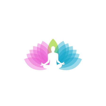 holistic health: icon for yoga or fitness center