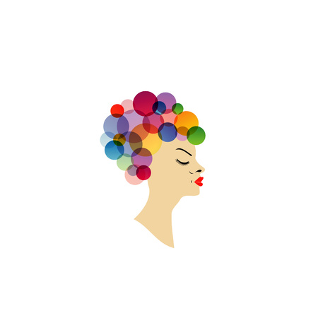 pout: Colorful hairstyle
