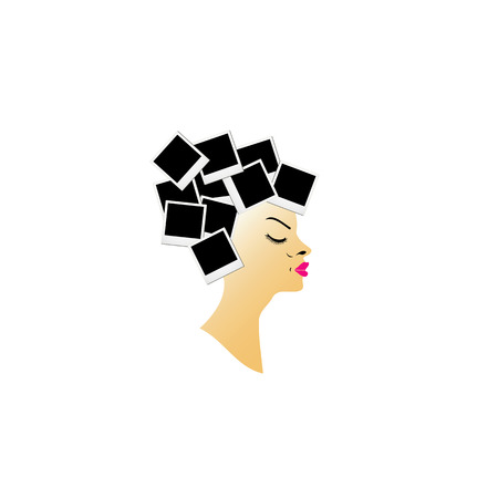 pout: hairstyle with blank photos