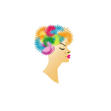 Colorful hairstyle Vector