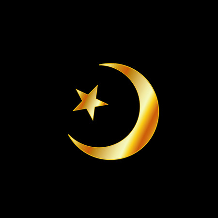 Symbol of Islam- A crescent moon and star