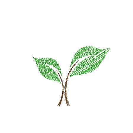 Baby seedling sketched Vector