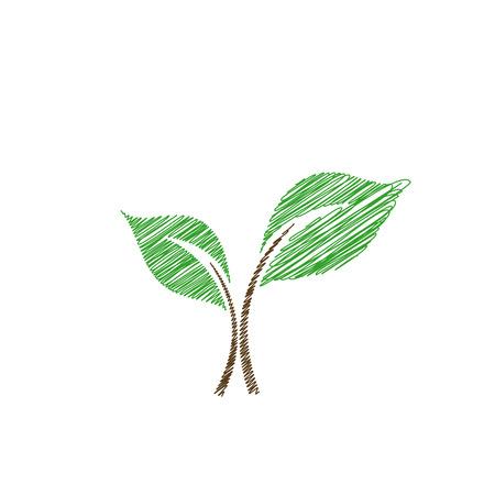 germinate: Baby seedling sketched