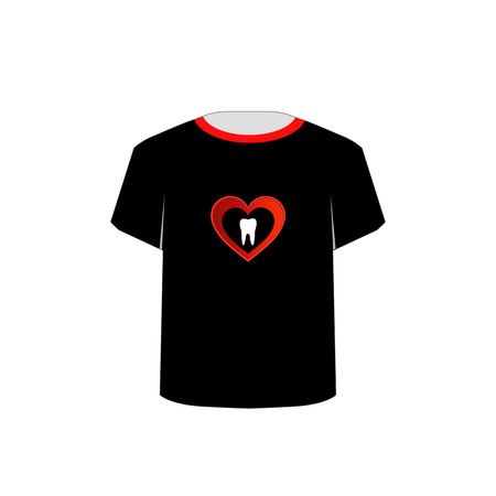 sweet tooth: T Shirt Template- Sweet tooth Illustration